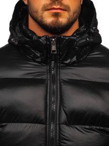 Černá pánská prošívaná sportovní zimní bunda Bolf K65