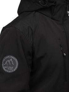 Černá pánská softshellová bunda Bolf P195