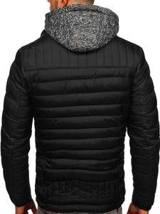Černá pánská sportovní zimní bunda Bolf 50A93