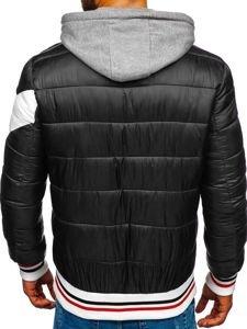 Černá pánská sportovní zimní bunda Bolf JK395