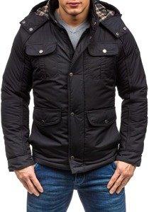 Černá pánská zimní bunda Bolf 1350