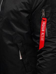 Černá pánská zimní letecká bunda Bolf 1787