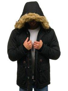 Černá pánská zimní parka Bolf 1046