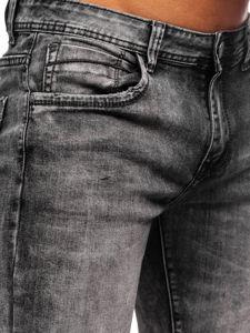 Černé pánské džínové kraťasy Bolf KG3806