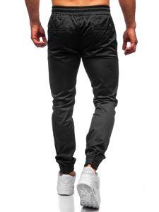 Černé pánské jogger kalhoty Bolf KA952