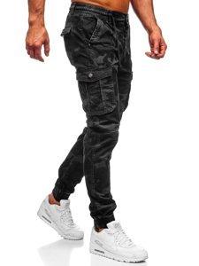 Černé pánské maskáčové jogger kapsáče Bolf CT6019