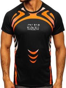 Černé pánské sportovní tričko s potiskem Bolf KS2062