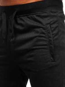 Černé pánské teplákové kraťasy Bolf DK08