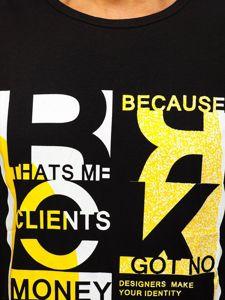Černé pánské tílko s potiskem Bolf KS2077