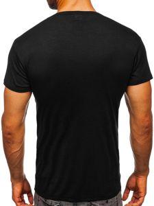 Černé pánské tričko bez potisku Bolf NB003