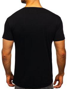 Černé pánské tričko s potiskem Bolf KS2012