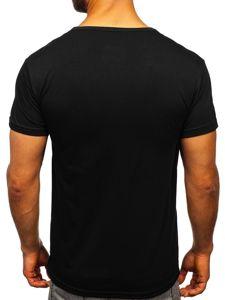 Černé pánské tričko s potiskem Bolf SS10901