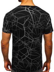 Černé pánské tričko s potiskem Bolf SS10935