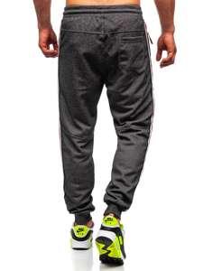 Černo-bílé pánské teplákové joggery Bolf Q3886