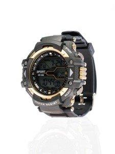 Černo-zlaté pánské hodinky Bolf 8338