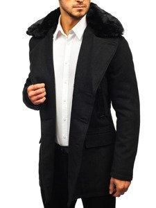 Černý pánský zimní kabát Bolf 88872