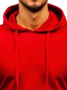 Červená pánská mikina s kapucí Bolf 5361