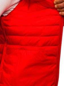 Červená pánská prošívaná přechodová bunda Bolf LY35