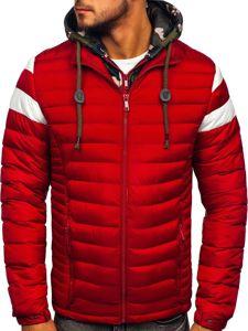 Červená pánská sportovní zimní bunda Bolf 50A462