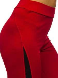 Červené dámské legíny Bolf Z001