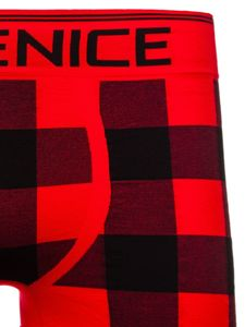 Červené pánské boxerky Bolf PL4497