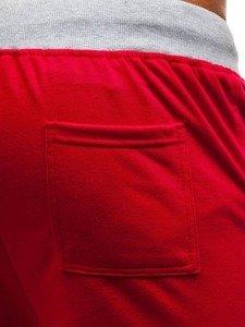 Červené pánské teplákové kraťasy Bolf EX06