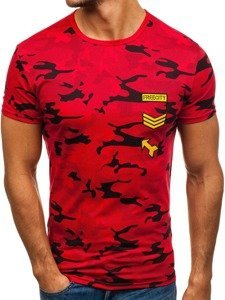 Červené pánské tričko s potiskem Bolf SS331