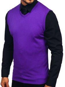 Fialový pánský svetr bez rukávů Bolf 2500