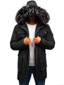 Grafitová pánská zimní bunda Bolf 201808