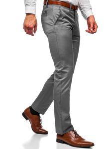 Grafitové pánské chino kalhoty Bolf KA1786P