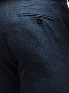 Grafitovo-modrý pánský oblek s vestou Bolf 18300