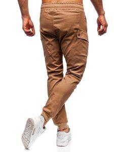 Kamelové pánské jogger kalhoty Bolf 11103