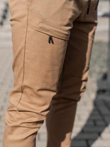 Kamelové pánské jogger kalhoty Bolf 11119