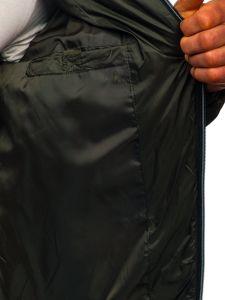 Khaki pánská prošívaná sportovní zimní bunda Bolf 50A223