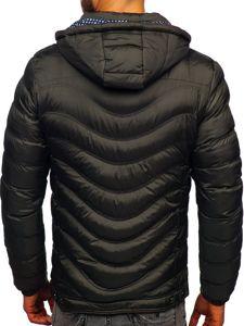 Khaki pánská prošívaná sportovní zimní bunda Bolf 50A255