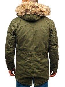 Khaki pánská zimní parka Bolf 33192