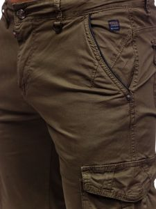 Khaki pánské kapsáčové kraťasy Bolf QS807