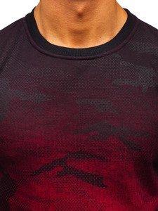 Maskáčovo-červená pánská mikina bez kapuce Bolf DD132-2