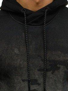 Maskáčovo-šedá pánská mikina s kapucí Bolf DD132-1