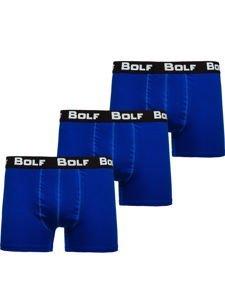 Modré pánské boxerky Bolf 0953-3P 3 PACK
