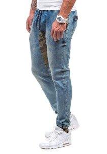 Modré pánské džínové jogger kalhoty Bolf 0465