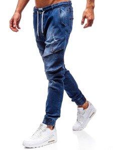 Modré pánské džínové jogger kalhoty Bolf 2048