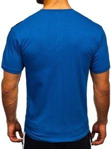 Modré pánské tričko s potiskem Bolf 14227-1