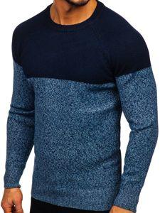 Modrý pánský svetr Bolf H1809
