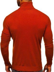 Oranžový pánský rolák bez potisku Bolf YY02