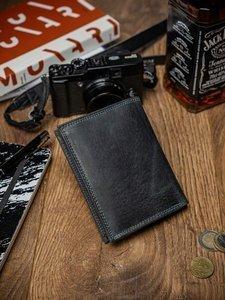 Pánská černá kožená peněženka 2051