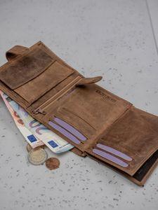 Pánská hnědá kožená peněženka 3186