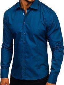 Pánská košile BOLF 1703 mořská