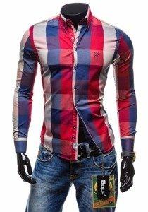 Pánská košile BOLF 4701-2 červená