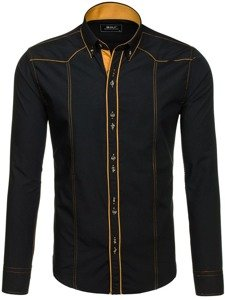 Pánská košile BOLF 4777 černá